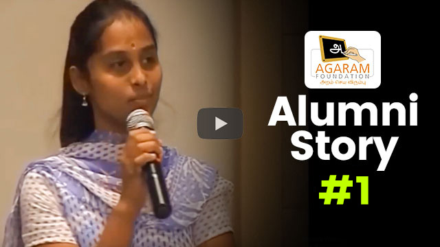 Agaram Alumni Stories #1